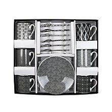 Buy John Lewis Tokyo Nippon Black Espresso Gift Set, 18 Piece, Black / White Online at johnlewis.com