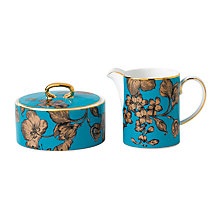 Buy Wedgwood Elegant Townhouse Vibrance Sugar And Cream Set, Turquoise Online at johnlewis.com