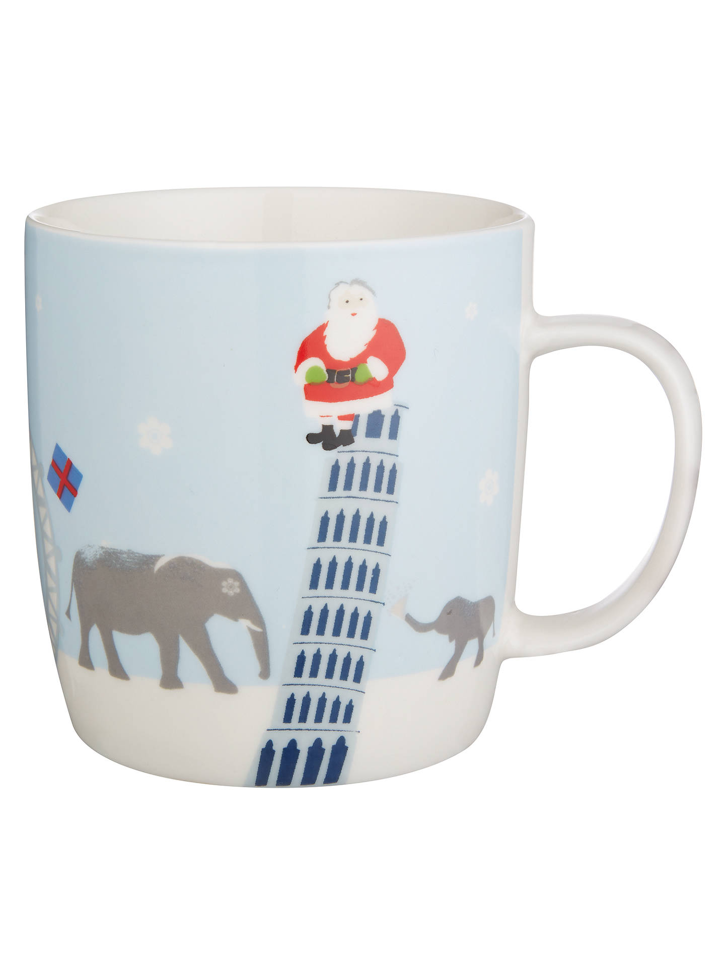 Buy John Lewis Elephant Mug In Tin, Blue Online at johnlewis.com