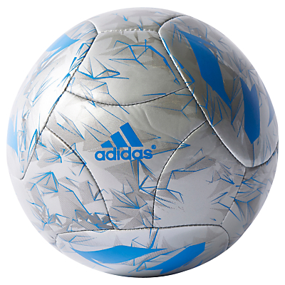 Adidas Messi Mini Football, Size 1, Silver/Blue