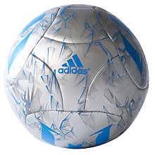 Buy Adidas Messi Q3 Football, Size 5, Silver/Blue Online at johnlewis.com