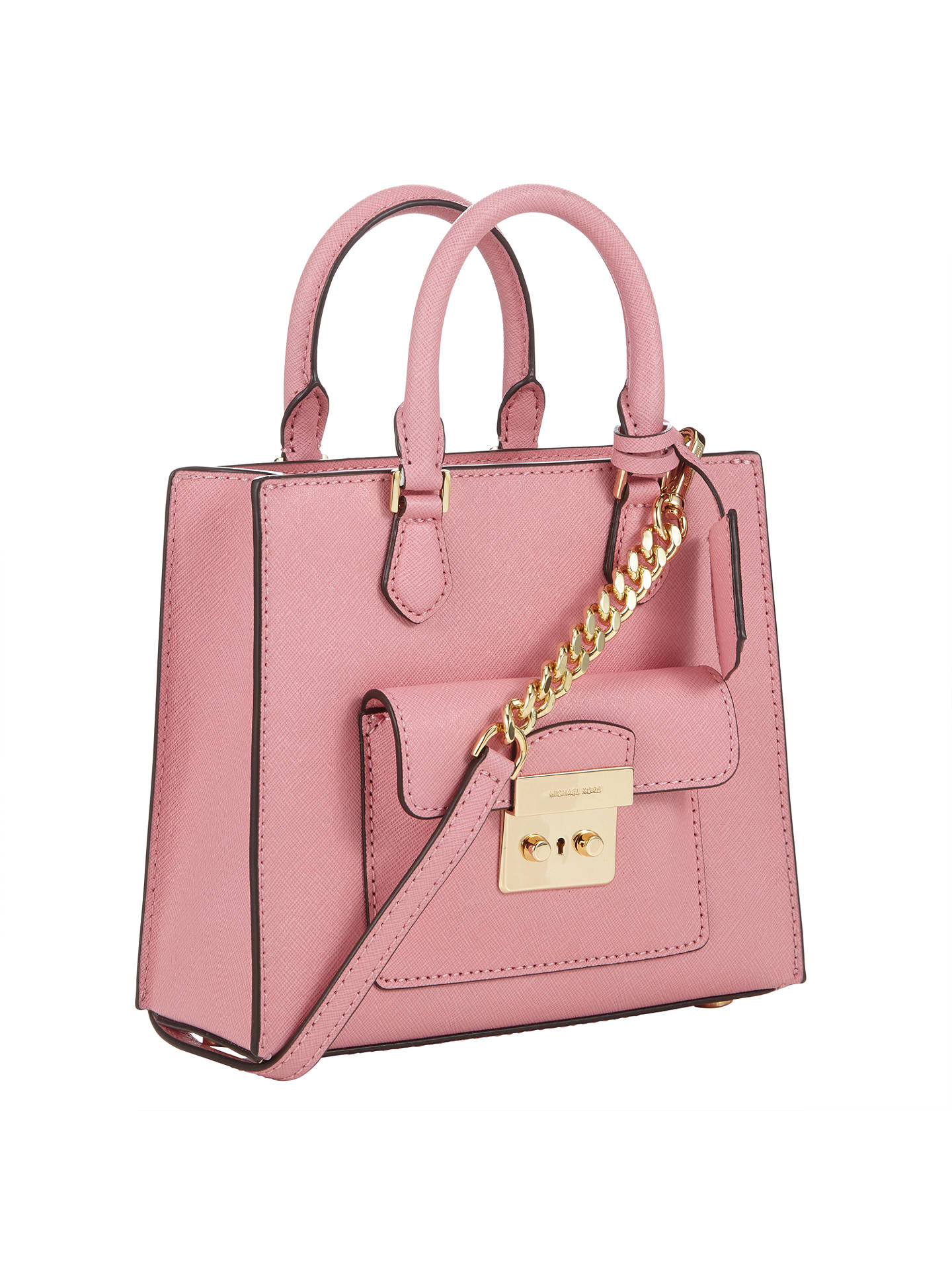 c0bd5570ad83 ... Buy MICHAEL Michael Kors Bridgette Leather Small North / South Messenger  Bag, Misty Rose Online ...