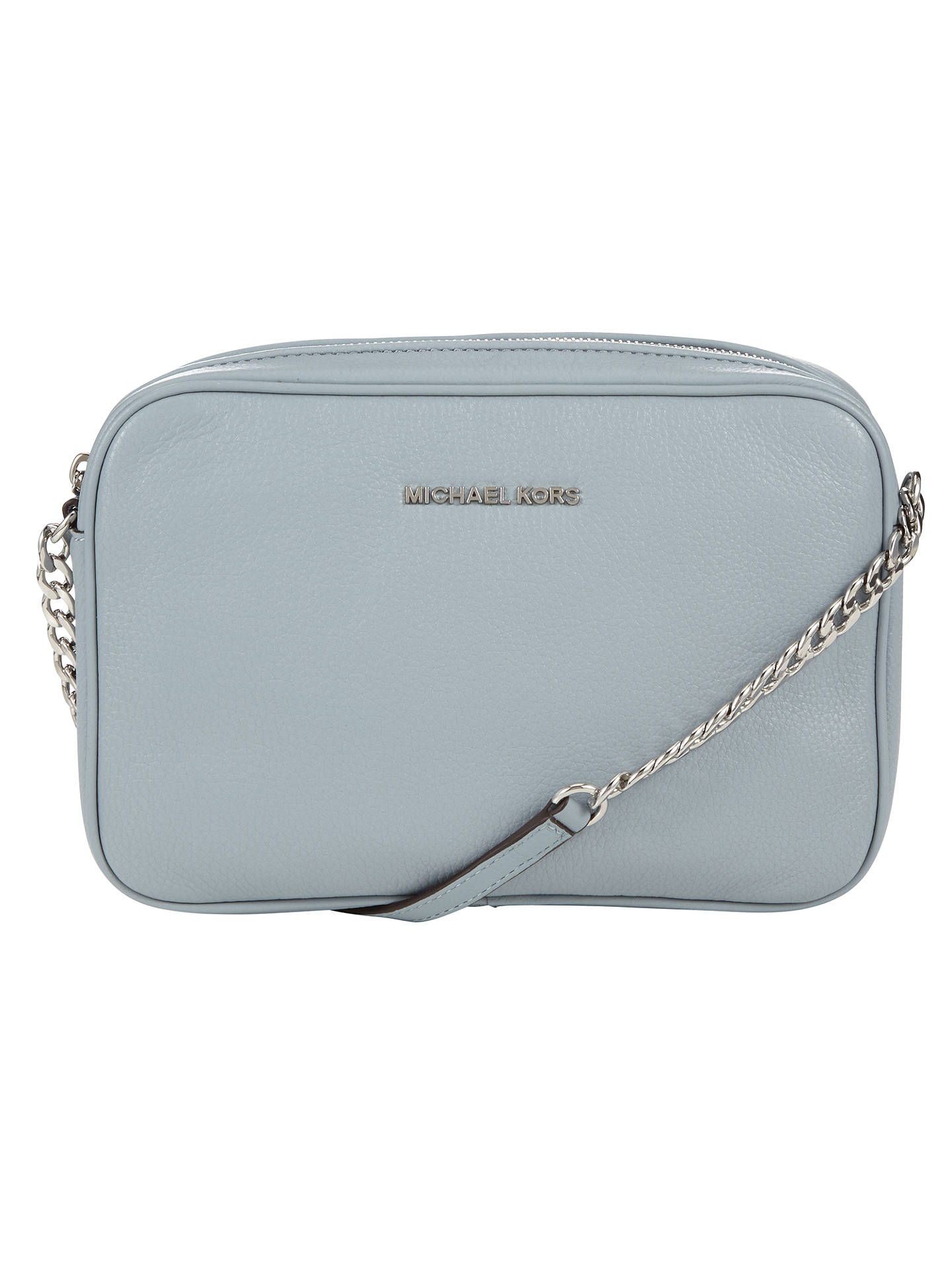 31a016f81bc0 Buy MICHAEL Michael Kors Bedford Large Leather Across Body Bag, Dusty Blue  Online at johnlewis ...
