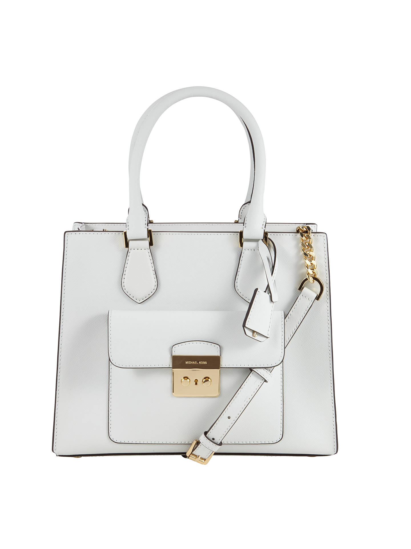 47978a3be3e4 Buy MICHAEL Michael Kors Bridgette Medium Tote Bag, Optic White Online at  johnlewis.com ...