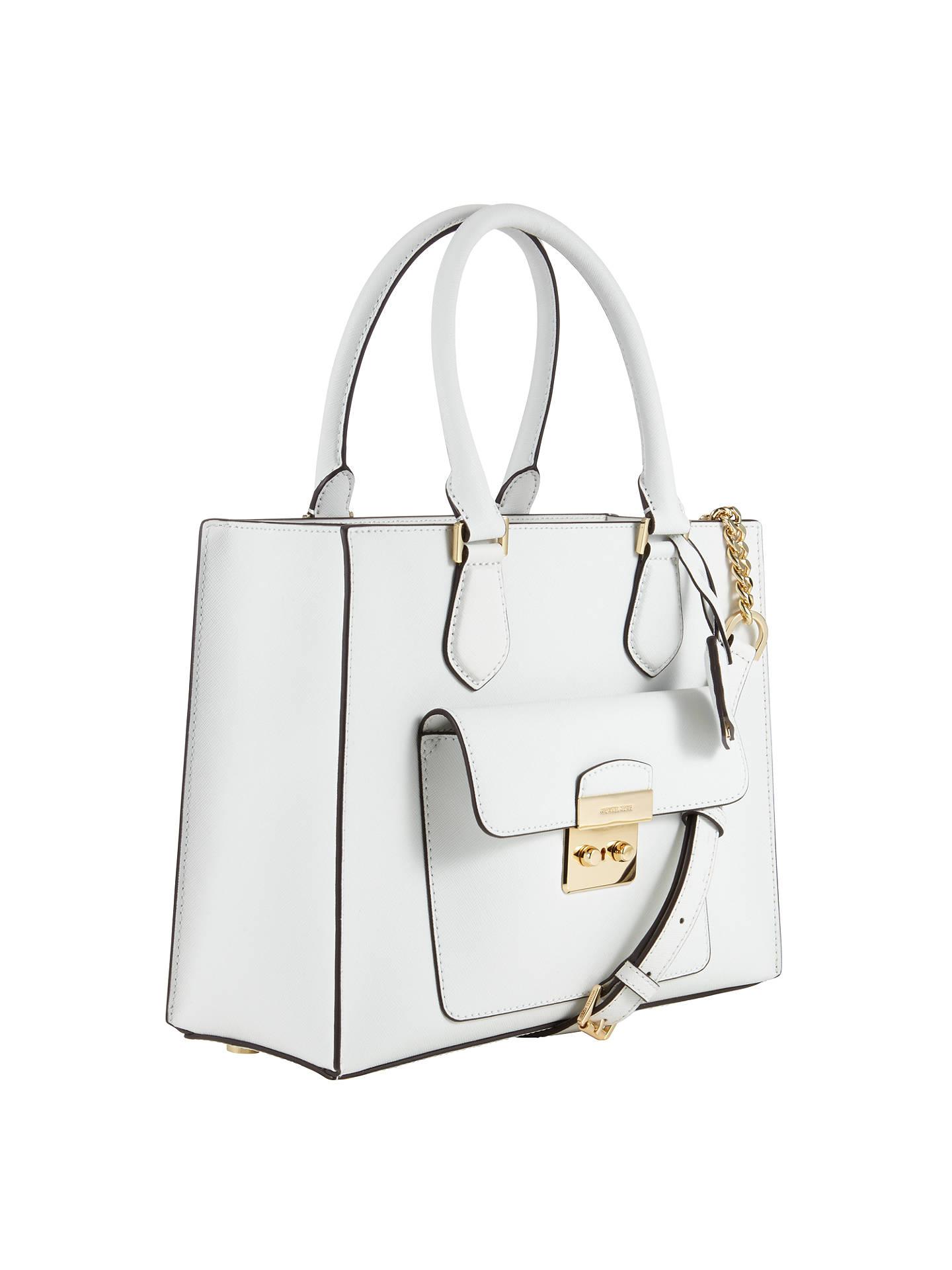 6536159dbdd1 ... Buy MICHAEL Michael Kors Bridgette Medium Tote Bag, Optic White Online  at johnlewis.com