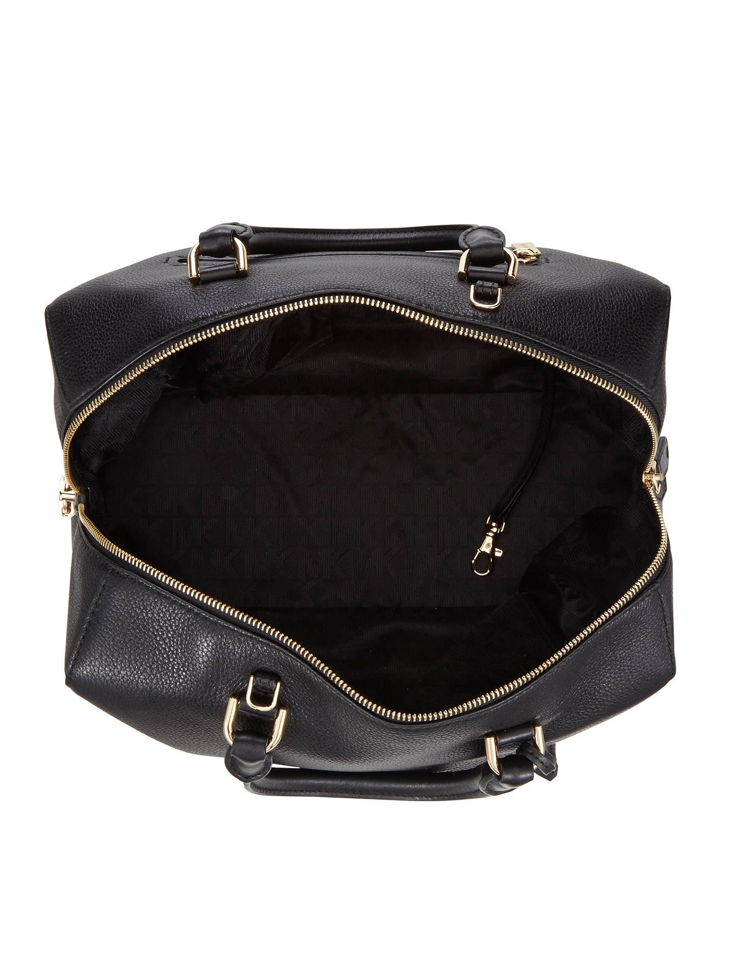 cbbeb2c78b5023 ... Buy MICHAEL Michael Kors Kirby Leather Large Satchel, Black Online at  johnlewis.com ...