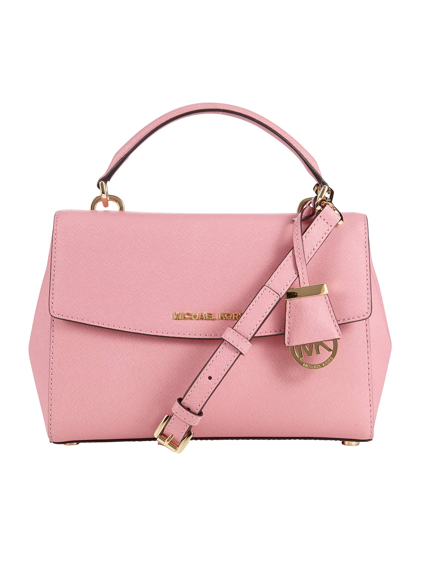 97b3b453217b Buy MICHAEL Michael Kors Ava Small Satchel, Misty Rose Online at  johnlewis.com ...