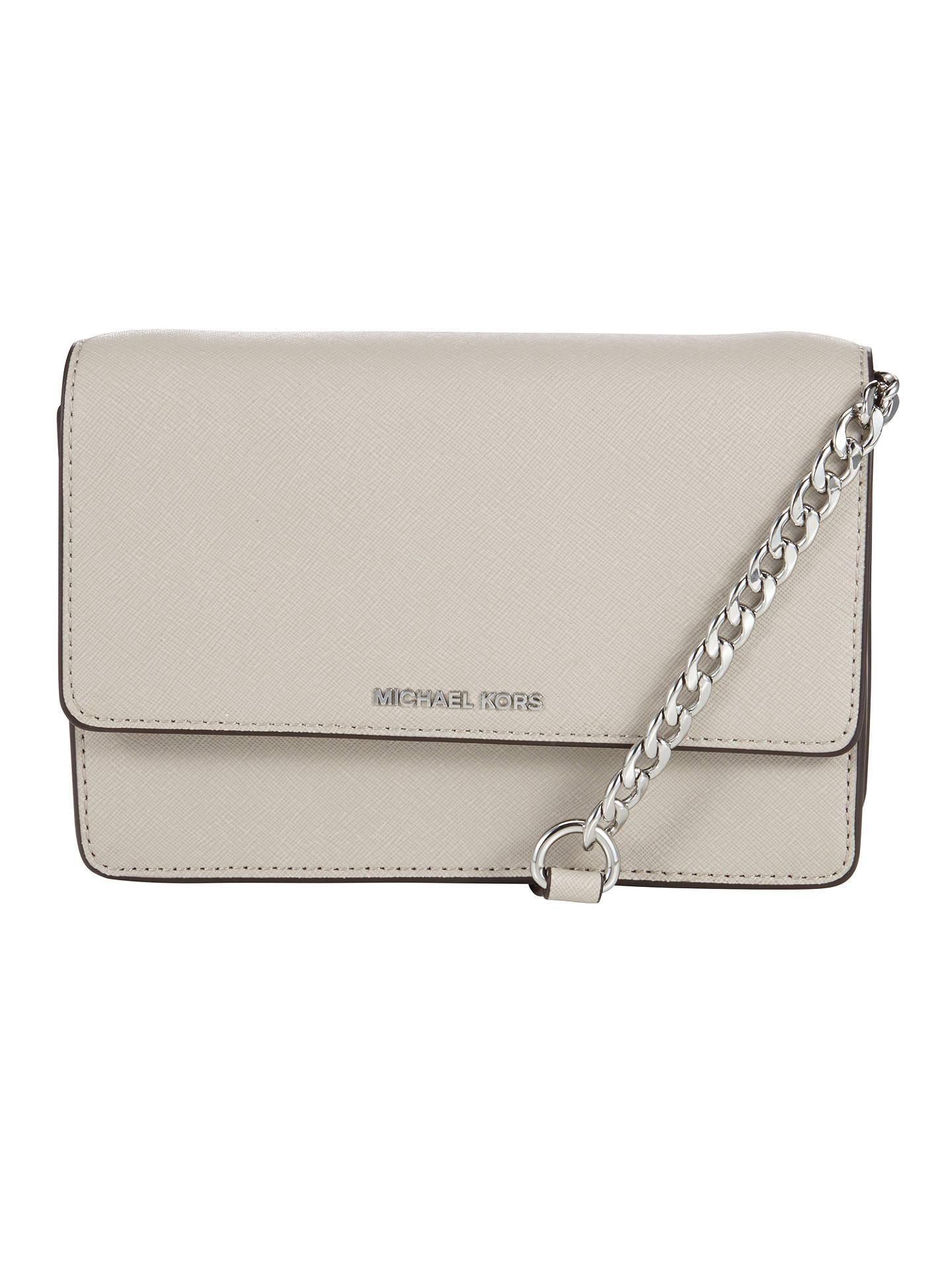 c79cfa356 Buy MICHAEL Michael Kors Daniela Small Leather Across Body Bag, Cement  Online at johnlewis.