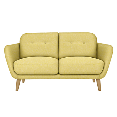 House by John Lewis Arlo Small 2 Seater Sofa, Light Leg, Riley New Fennel