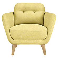 Buy House by John Lewis Arlo Armchair, Light Leg, Riley New Fennel Online at johnlewis.com