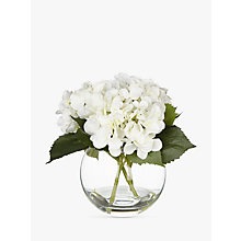 Buy Artificial Peony Hydrangea in Fishbowl, White Online at johnlewis.com