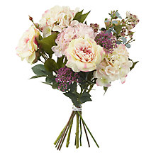 Buy Artificial Peony Pink Hydrangea and Rose Bouquet Online at johnlewis.com