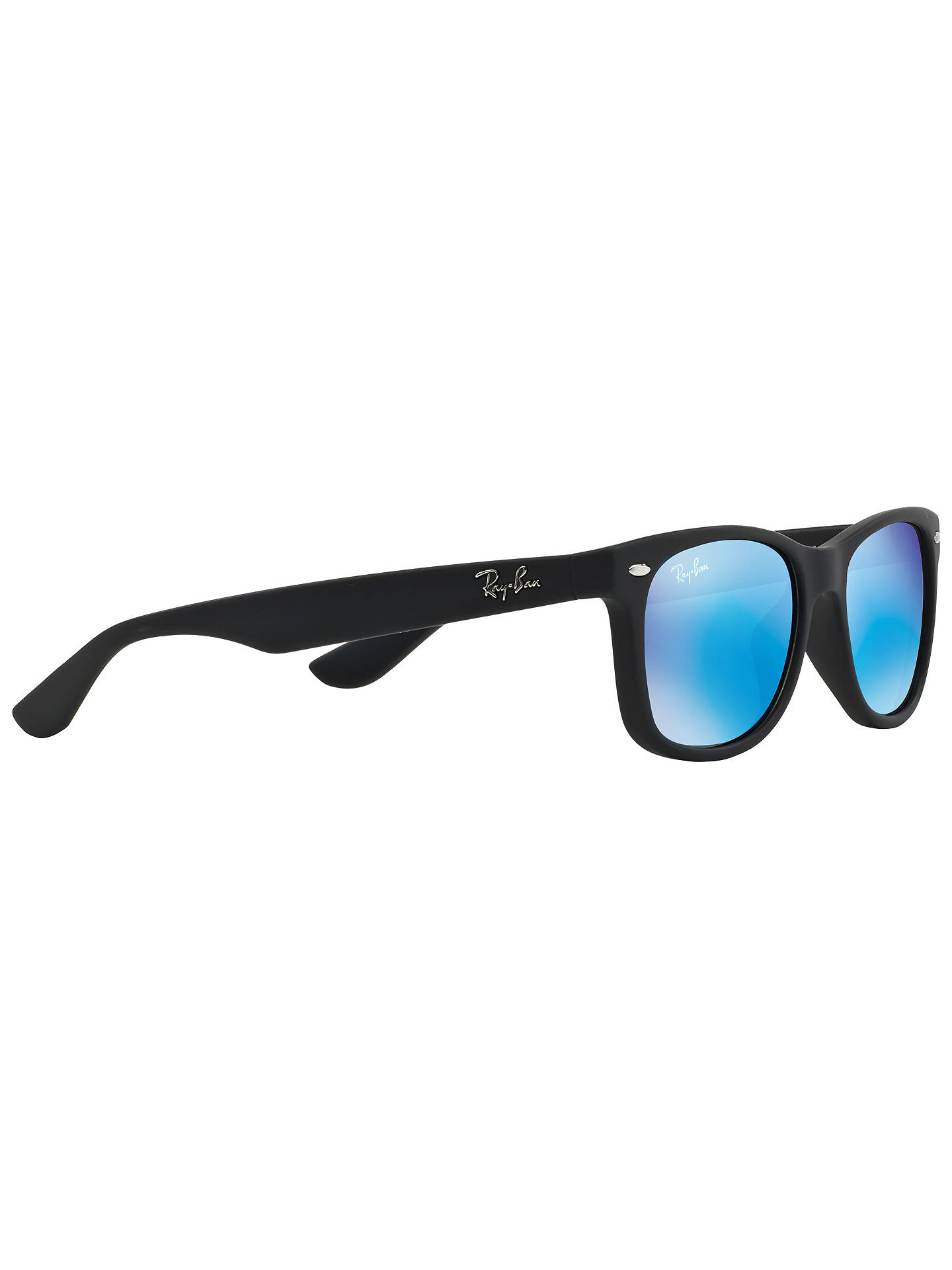6962b8a6ad7 ... official buyray ban junior rb9052s new wayfarer sunglasses black bright  blue online at johnlewis 1e39e e3c96