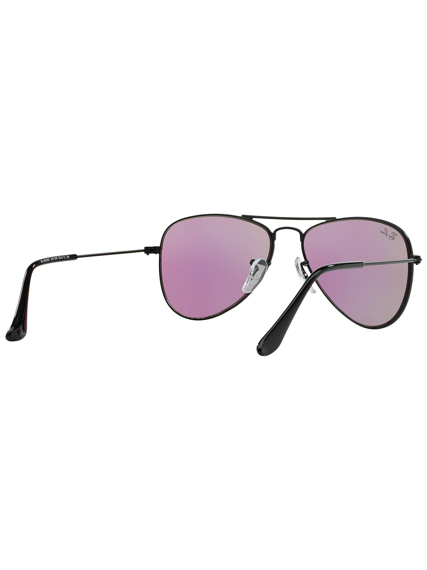 Buy Ray-Ban Junior RJ9506S Aviator Sunglasses, Black/Green Online at johnlewis.com