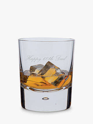 Buy Dartington Crystal Personalised Exmoor Old Fashioned Whisky Glass (Single), Palace Script Font Online at johnlewis.com