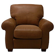 Buy John Lewis Hampstead Leather Armchair, Old West Cognac Online at johnlewis.com