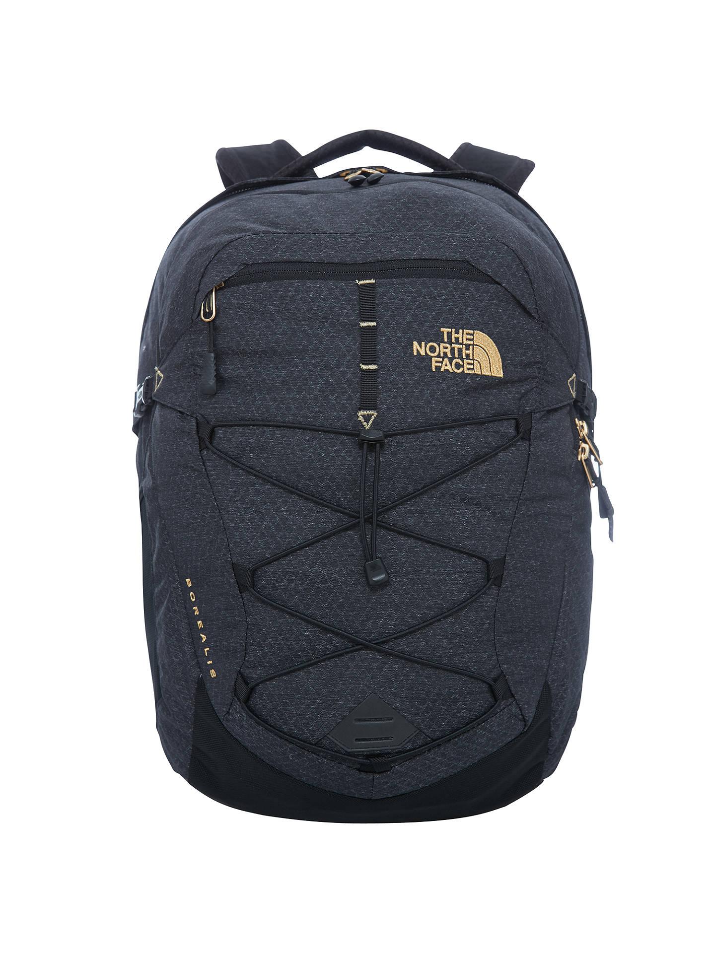 217eb5fb3 The North Face Borealis Backpack, Black/Gold at John Lewis & Partners