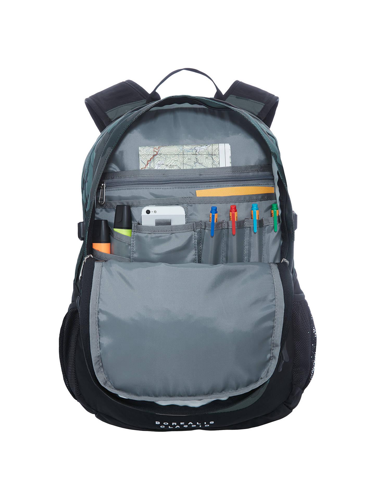 7678a2e0a The North Face Borealis Backpack, Black Camo at John Lewis & Partners