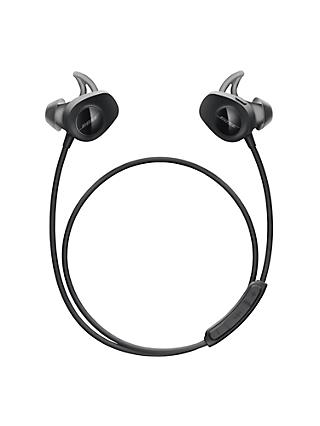 Bose® SoundSport™ Sweat & Weather-Resistant Wireless In-Ear Headphones With Bluetooth/NFC, 3-Button In-Line Remote and Carry Case