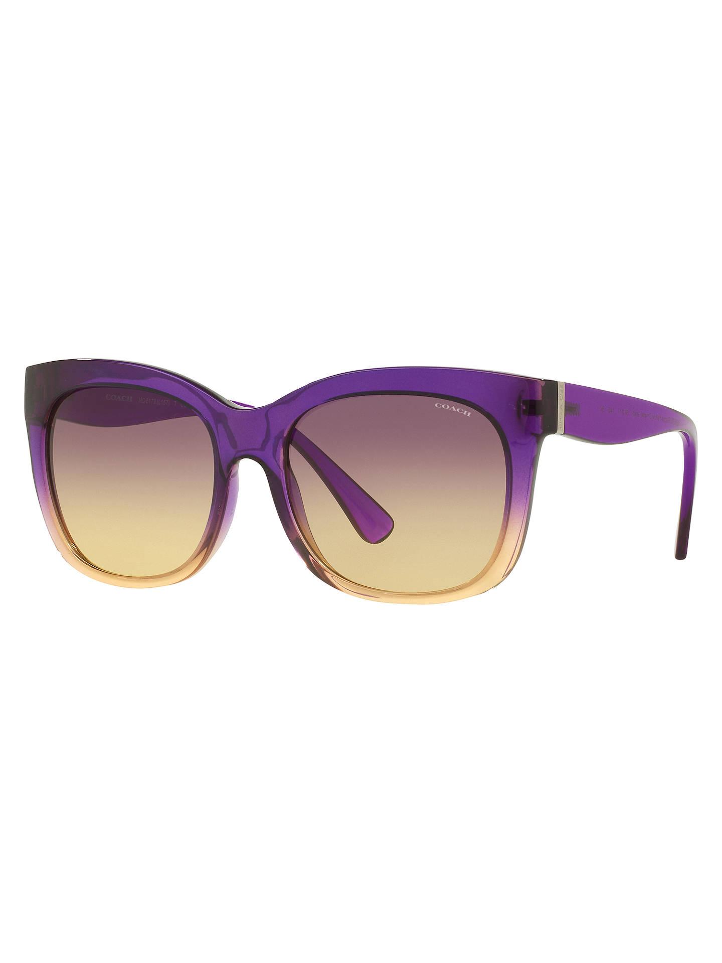 4ba5722e1241 Buy Coach HC8173 Square Sunglasses, Purple/Yellow Online at johnlewis.com  ...