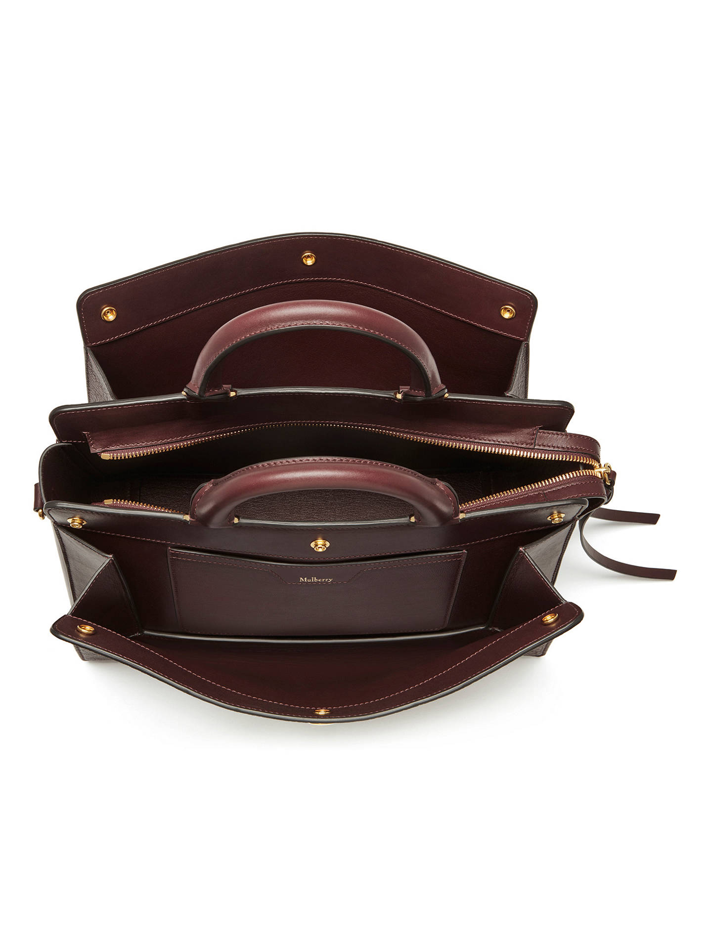 5f3c21512f9 ... Buy Mulberry Chester Textured Goat Leather Bag, Burgundy Online at  johnlewis.com ...