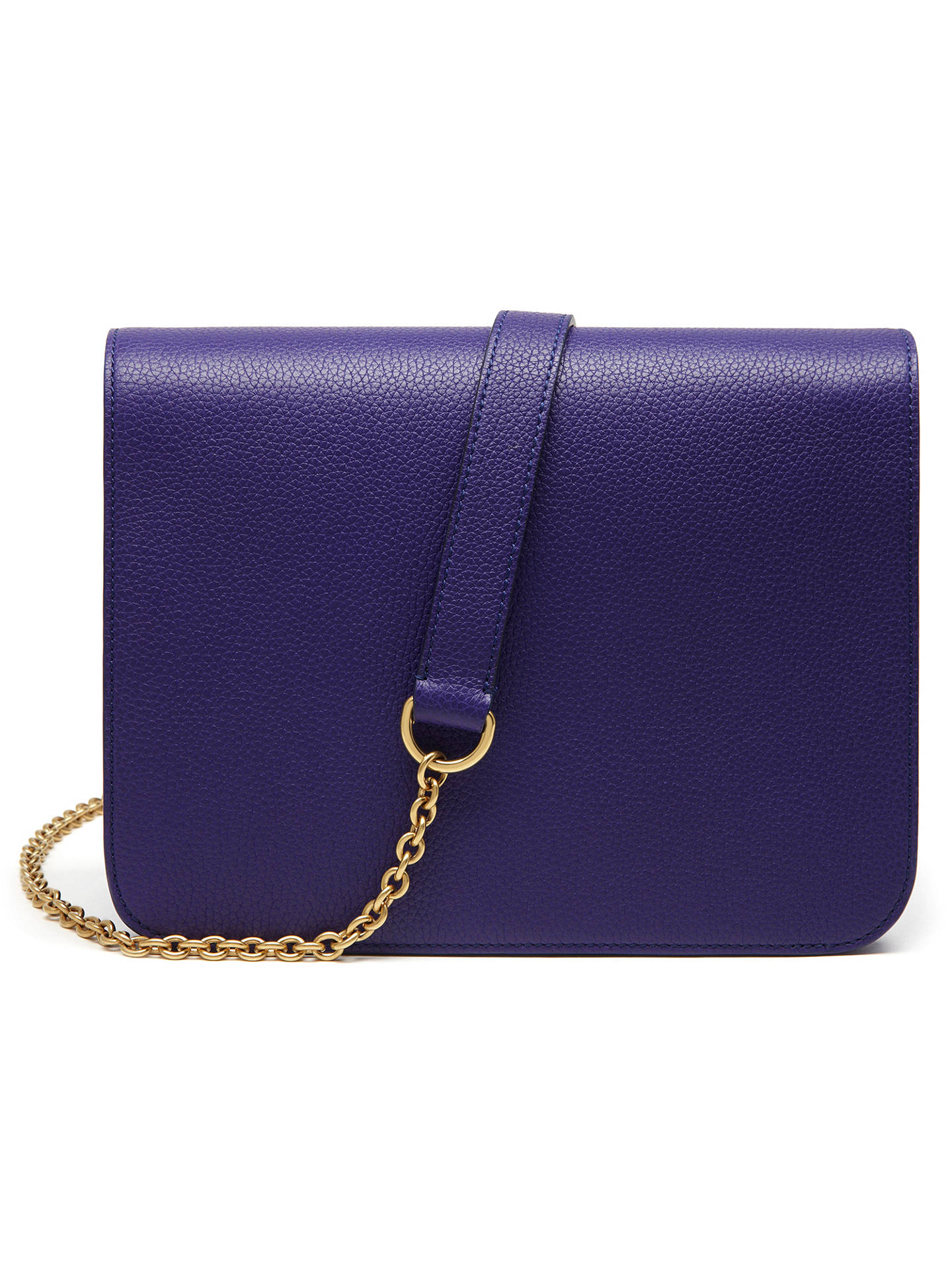 BuyMulberry Clifton Classic Grain Leather Across Body Bag, Indigo Online at johnlewis.com