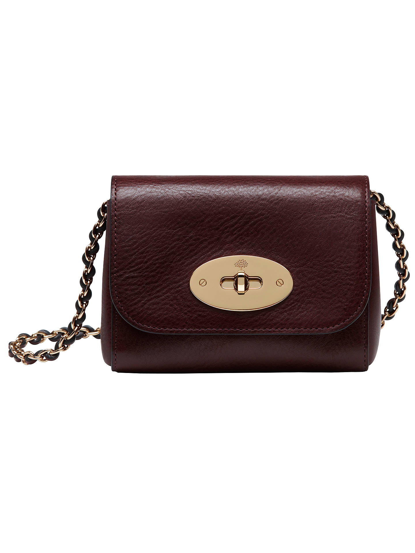 Mulberry New Lily Mini Leather Shoulder Bag Oxblood Online At Johnlewis
