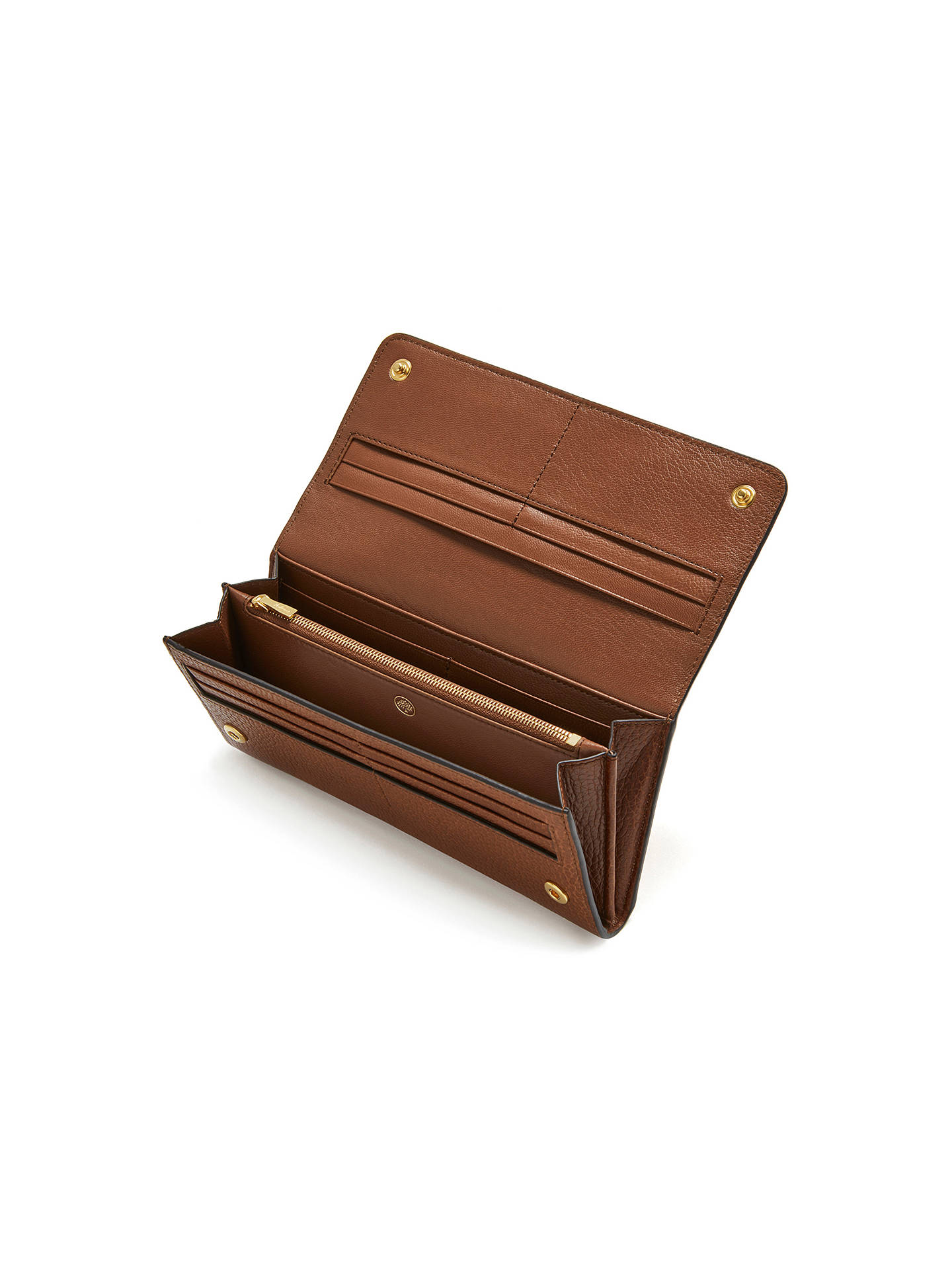 BuyMulberry Continental Leather Wallet, Oak Online at johnlewis.com