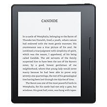 Buy Amazon Kindle Oasis Wi-Fi eReader with Leather Charging Cover, Black Online at johnlewis.com