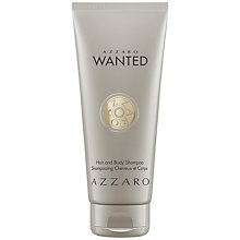 Buy Azzaro Wanted Hair & Body Shampoo, 100ml Online at johnlewis.com