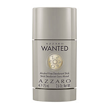 Buy Azzaro Wanted Alcohol-Free Deodorant Stick, 75ml Online at johnlewis.com