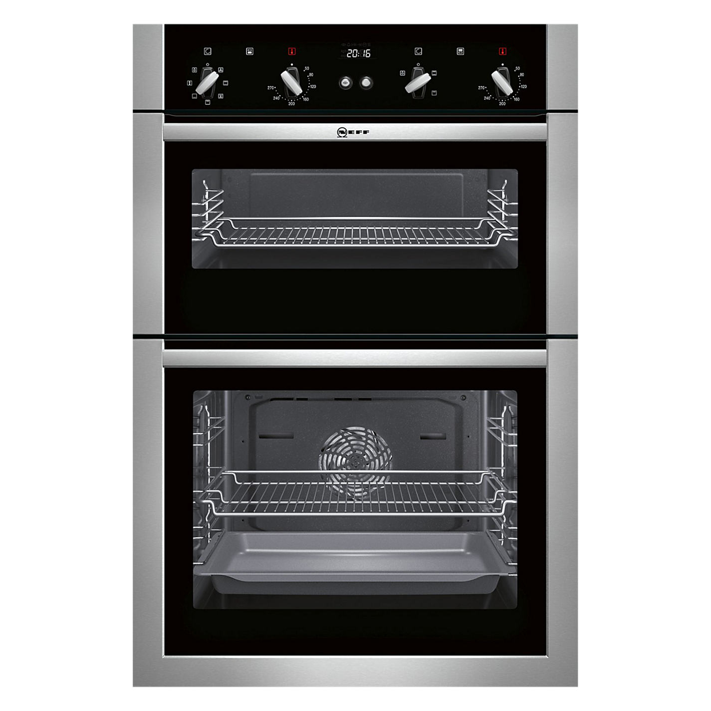 Attractive Built In Cookers Part - 8: Buy Neff U14M42N5GB Built-In Double Oven, Stainless Steel Online At  Johnlewis.com