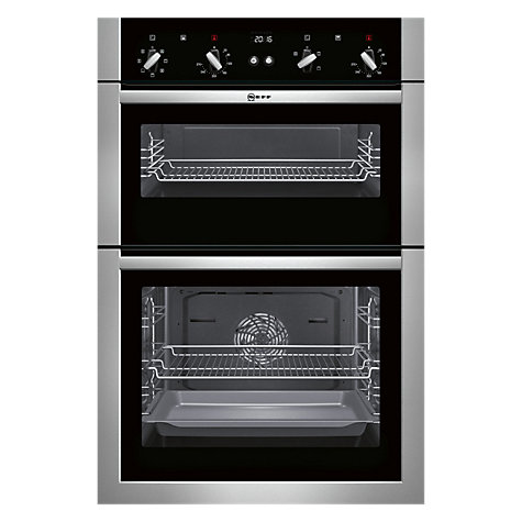Buy Neff U14M42N5GB Built-In Double Oven, Stainless Steel Online at johnlewis.com
