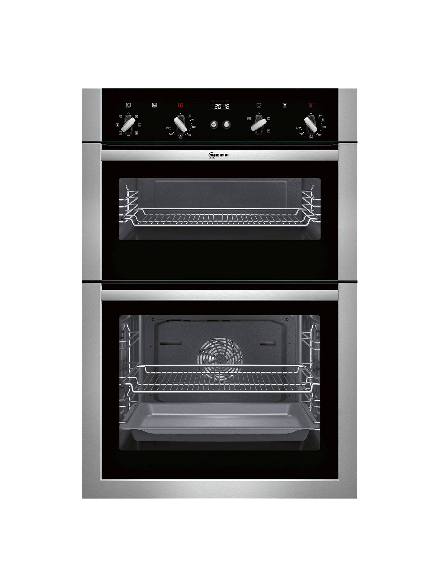 BuyNeff U14M42N5GB Built-In Double Oven, Stainless Steel Online at johnlewis.com