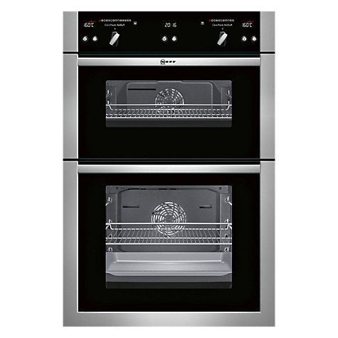 buy neff u16e74n5gb built in double oven stainless steel. Black Bedroom Furniture Sets. Home Design Ideas