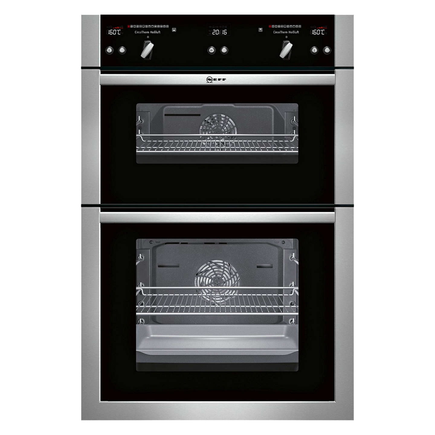 neff u16e74n5gb built in double oven stainless steel at. Black Bedroom Furniture Sets. Home Design Ideas