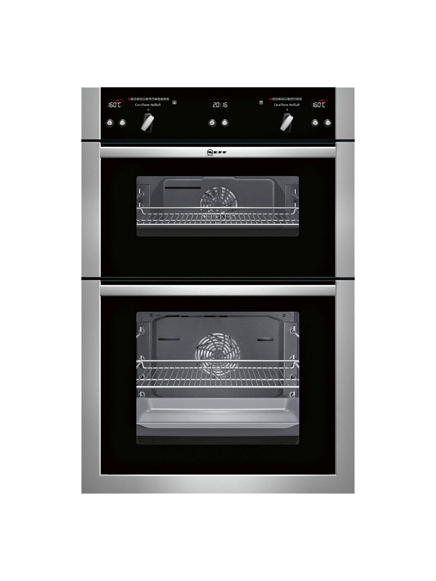 neff u16e74n5gb built in double oven stainless steel at john lewis partners. Black Bedroom Furniture Sets. Home Design Ideas