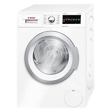 Buy Bosch WAT28420GB Freestanding Washing Machine, 8kg Load, A+++ Energy Rating, 1400rpm Spin Speed, White Online at johnlewis.com