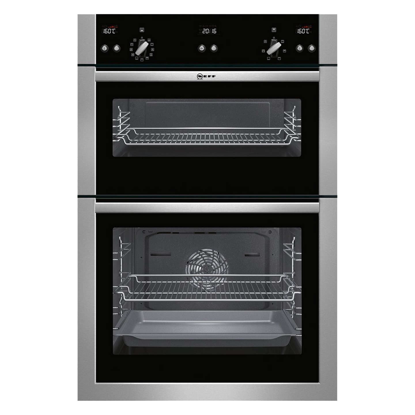 neff u15e52n5gb double built in electric oven stainless steel at rh johnlewis com Socket Wiring Diagram Omega Alarm Wiring Diagrams