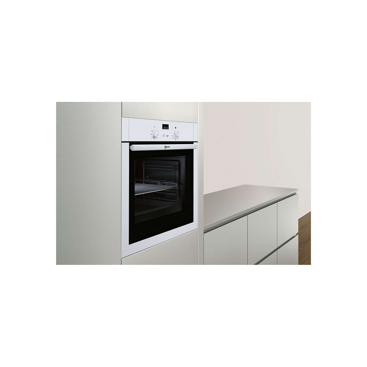 neff b14m42w5gb built in single oven electric at john lewis. Black Bedroom Furniture Sets. Home Design Ideas