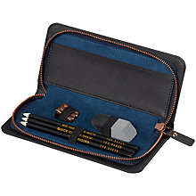Buy Ted Baker Brogue Pencil Case, Black Online at johnlewis.com