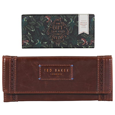 Ted Baker Brogue Sunglasses Case, Red