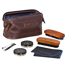 Buy Ted Baker Shoe Shine Kit Doctor's Bag Online at johnlewis.com