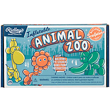 Buy Ridley's Inflatable Zoo Balloon Modelling Kit Online at johnlewis.com