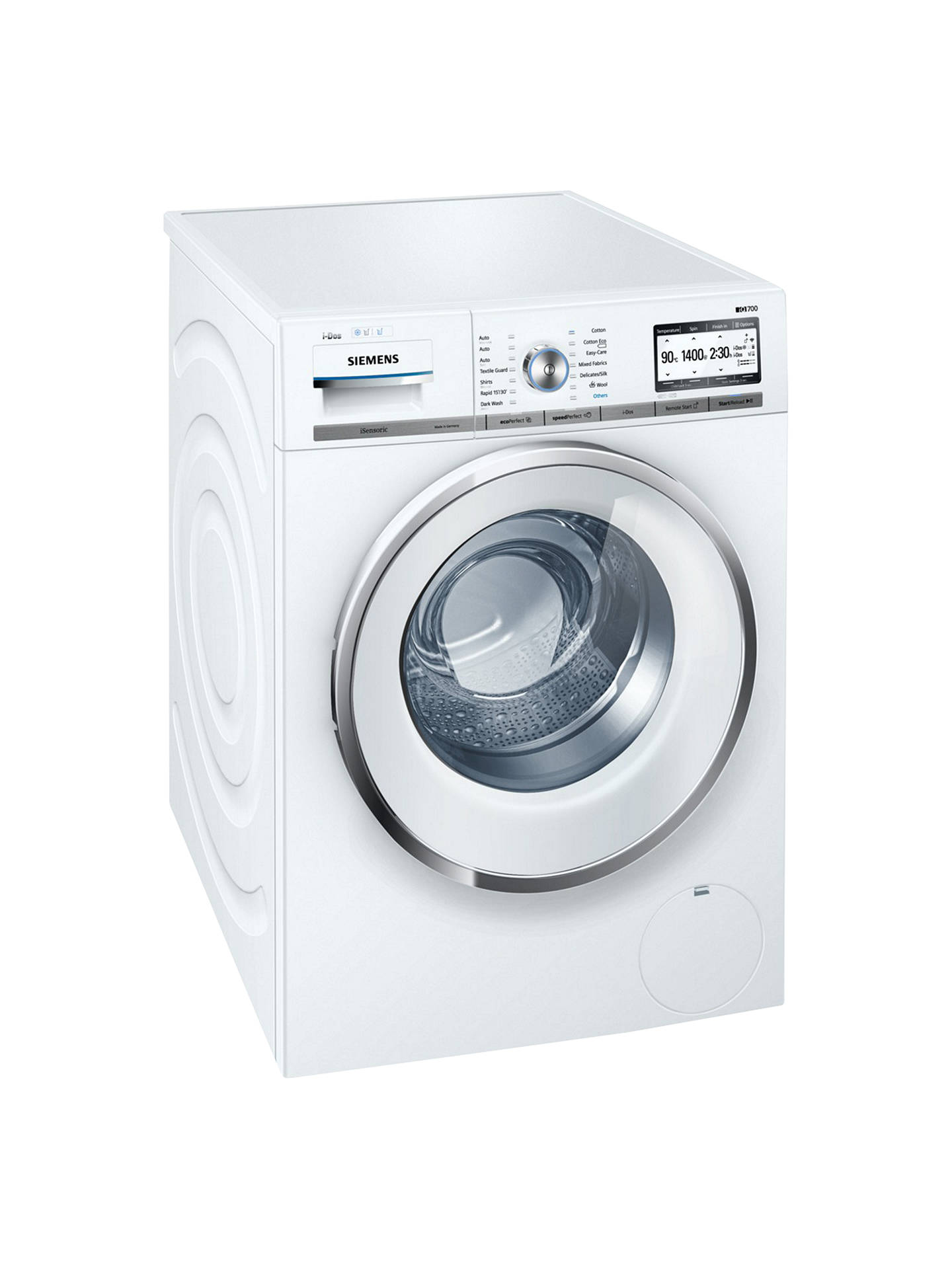 Siemens Iq700 Wmh4y890gb Freestanding Washing Machine With I Dos And