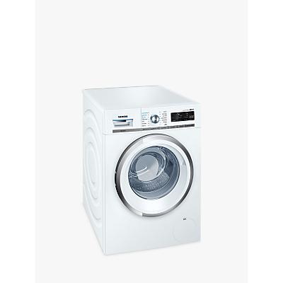 Image of Siemens WM14W750GB iQ500 Freestanding Washing Machine, 9kg Load, A+++ Energy Rating, 1400rpm Spin, White