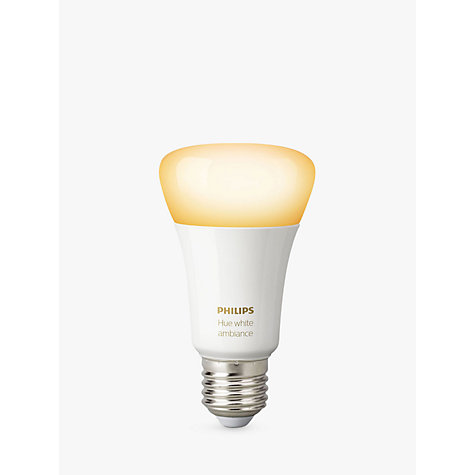 buy philips hue white ambiance wireless lighting led light bulb 9 5w a60 e27 edison screw bulb. Black Bedroom Furniture Sets. Home Design Ideas