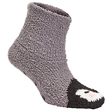 Buy John Lewis Cosy Penguin Bootie Socks, Grey Online at johnlewis.com