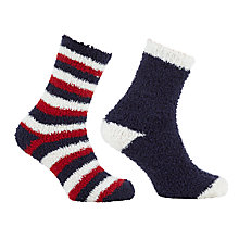 Buy John Lewis Glitter Fluffy Ankle Socks Online at johnlewis.com