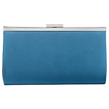 Buy Phase Eight Lucy Satin Clutch Bag, Steel Blue Online at johnlewis.com